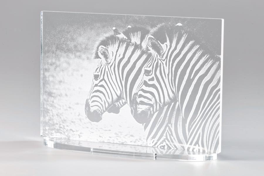 Engraved acrylic
